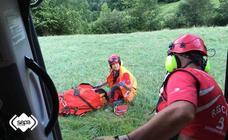 Herido un hombre tras caer por un desnivel de tres metros en Caso