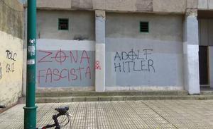 Aparecen pintadas fascistas en el barrio gijonés de El Polígono