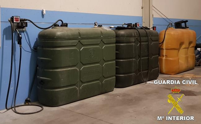 La Guardia Civil denuncia a una empresa por uso fraudulento de gasóleo bonificado