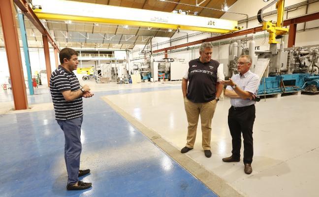 Canga visita la nueva nave de Vauste de piezas de magnesio