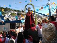 Tradicional saleo marítimo de las fiestas del Rosario de Luarca