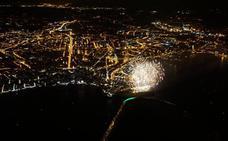 Las espectaculares imágenes de los Fuegos desde el aire
