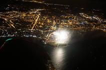 Los Fuegos de Gijón, desde el aire