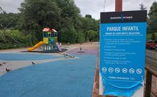 División en Langreo por las normas en los parques infantiles