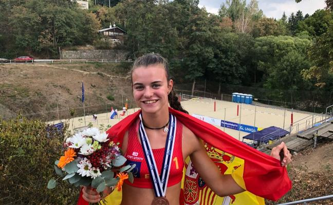 Daniela Álvarez se cuelga el bronce en el Campeonato de Europa sub 18