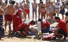 Rescatan a un joven vallisoletano que se desvaneció en aguas de San Lorenzo