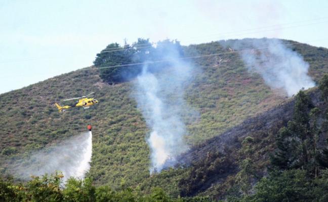 Incendio forestal en El Torcenal de Onís