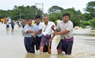 La ruptura de una presa en Birmania provoca miles de desplazados