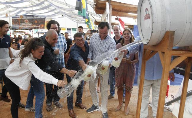 El Oktoberfest abre en El Bibio a toda presión
