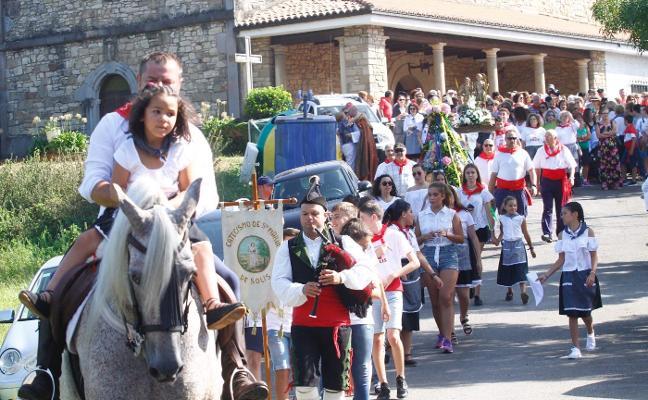 Los romeros peregrinan por San Justo y Pastor en Solís