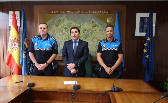 Llanera refuerza la actual plantilla de la Policía Local con dos nuevos agentes interinos