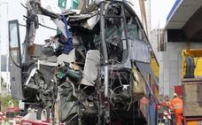 Descartan el exceso de velocidad como causa del accidente de autobús en Avilés