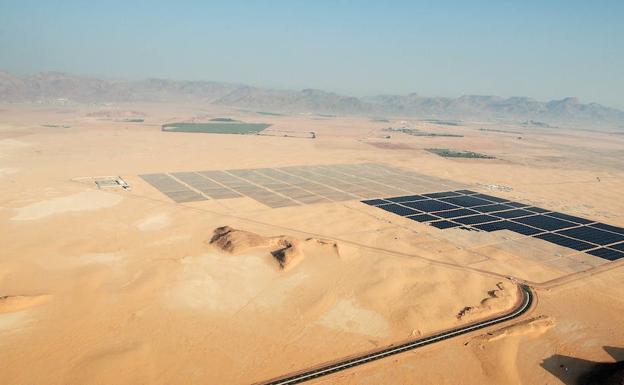 Jordania. Planta fotovoltaica de Quweira.