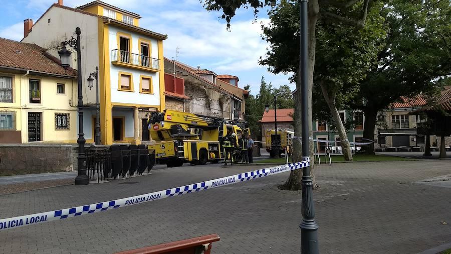 Desalojan un edificio del Carbayedo por un incendio ya sofocado