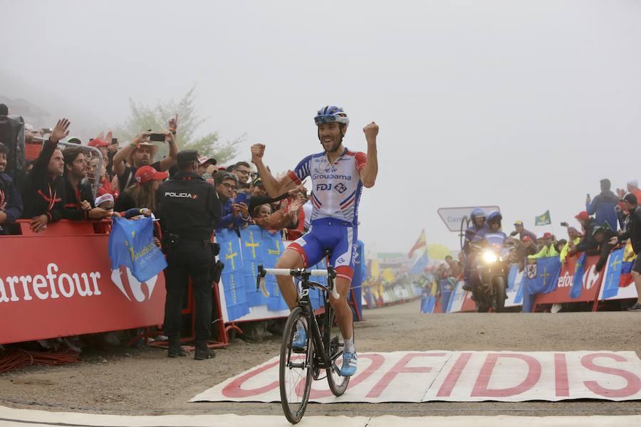 Emocionante subida a Los Lagos en La Vuelta