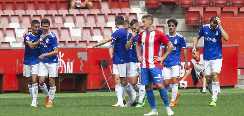El Oviedo se impone en el derbi de filiales en El Molinón