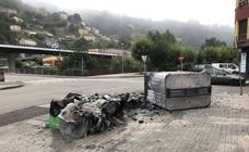 En alerta por la quema de contenedores en la cuenca del Nalón