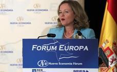 La ministra de Economía, en un lapsus, subraya que la labor de Montón «ha sido extraordinaria»