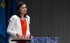 La ministra encargada de inaugurar la 62 Feria Internacional de Muestras