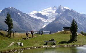La nieve está desapareciendo en Suiza, incluyendo en los Alpes