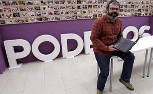 Dimite Xuacu Rodríguez, el secretario de Organización de Podemos Asturias