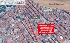 Cortes de tráfico el sábado en Gijón, en el Muro y los Moros, por el 'Día sin coches'