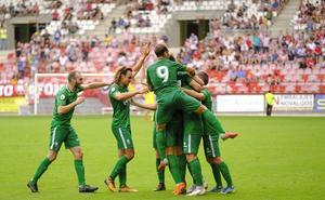 El Sporting B desmorona a una triste UD Logroñés
