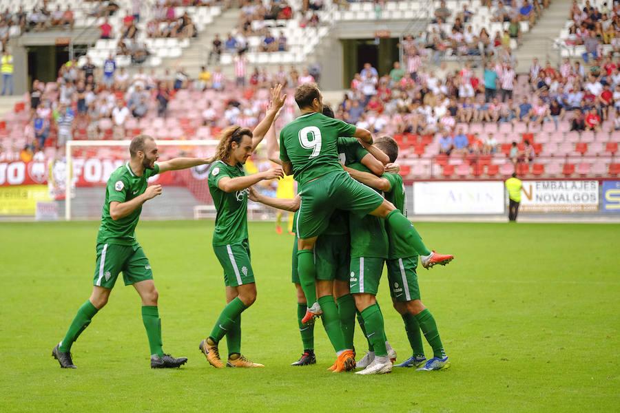 UD Logroñés 0 - 2 Sporting B, en imágenes
