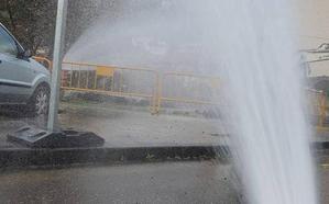 La rotura de un tubería provoca una fuga de gas en Turón