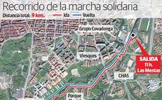 Recorrido de la VI Marcha Familiar Gijón Solidario