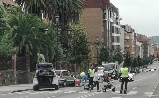 Detenido un conductor tras provocar un accidente en Tenderina Alta
