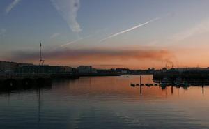 Boina de contaminación sobre Gijón