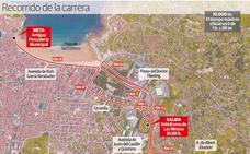 Una prueba que ilumina Gijón