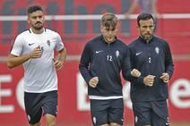 Entrenamiento del Sporting (23/09/2018)