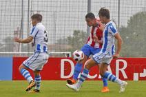 El Sporting B empata con la Real Sociedad B (2-2)
