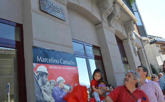 Tineo inaugura la tercera calle de Asturias en honor a Marcelino Camacho
