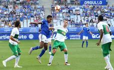 Gol de Manuel Sánchez en el Real Oviedo 1 - 1 Elche