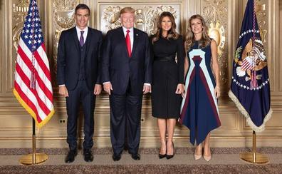 Begoña Gómez luce un vestido de Delpozo de 2.300 euros en la recepción oficial con Trump
