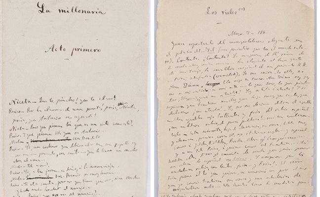 La Biblioteca Nacional paga 24.000 euros por los manuscritos de 'Clarín'