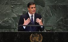 Pedro Sánchez clama ante la ONU contra los nacionalismos excluyentes y pide liderazgos «cooperativos»