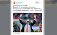 Las Palmas recuerda a Quini en su visita a Asturias
