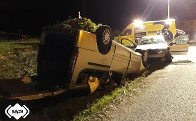 Tres heridos en un accidente de tráfico en El Franco