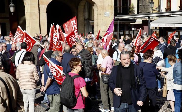 Los pensionistas reclaman una subida de pensiones