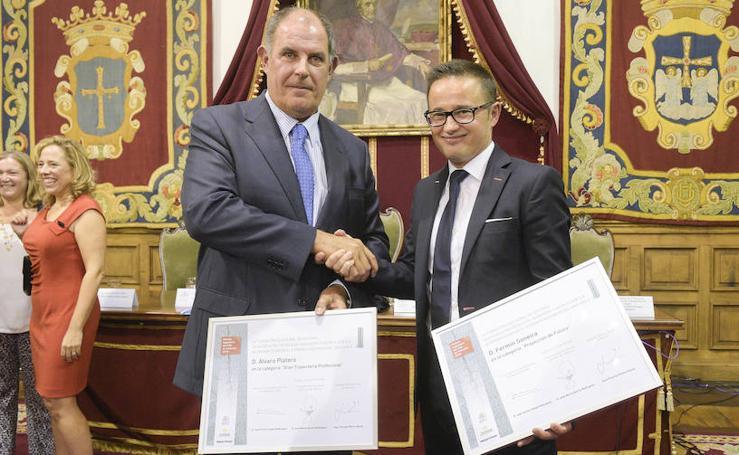 Fermín Soneira y Álvaro Platero reciben el premio 'Ingeniero del Año'