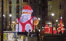 Las luces navideñas contratadas por el Ayuntamiento llegarán a 107 calles de Gijón