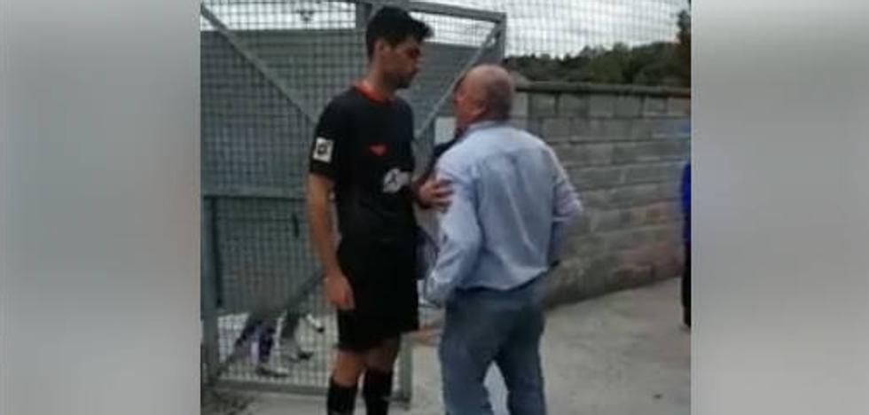 Graves amenazas e insultos a un árbitro tras un partido entre el San Claudio y el Oviedo B de Segunda Cadete