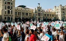 Valencianos y aragoneses salen a la calle para reclamar el corredor del Mediterráneo