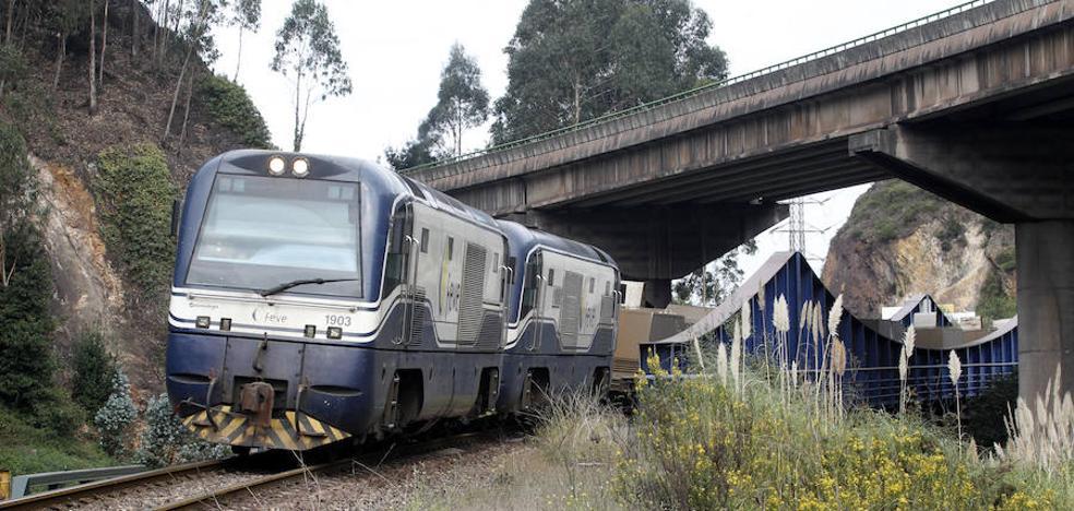 Una avería de un mercancías de Feve corta la línea entre Perlora y Gijón
