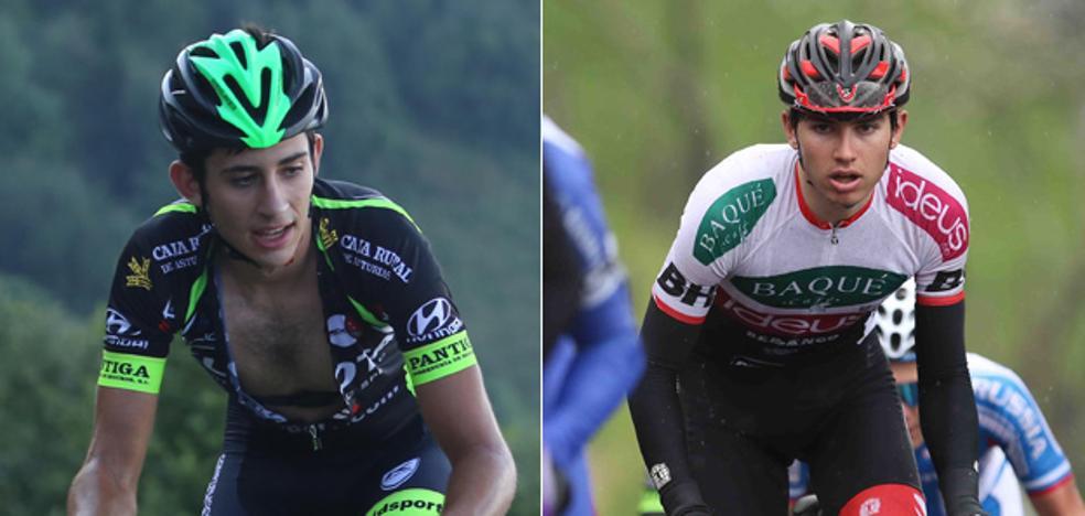 Dos jóvenes asturianos, los nuevos 'protegidos' de Contador