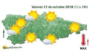 Viernes festivo con buen tiempo en Asturias